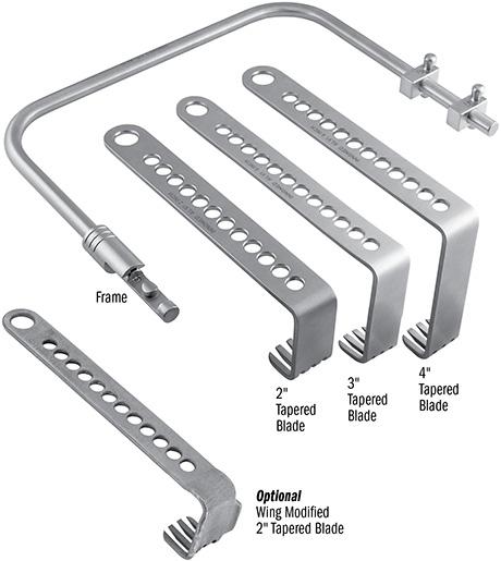 Alvi Small Charnley Style Locking Frame Set