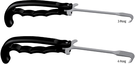 Rake Retractors with Ergonomic Handle